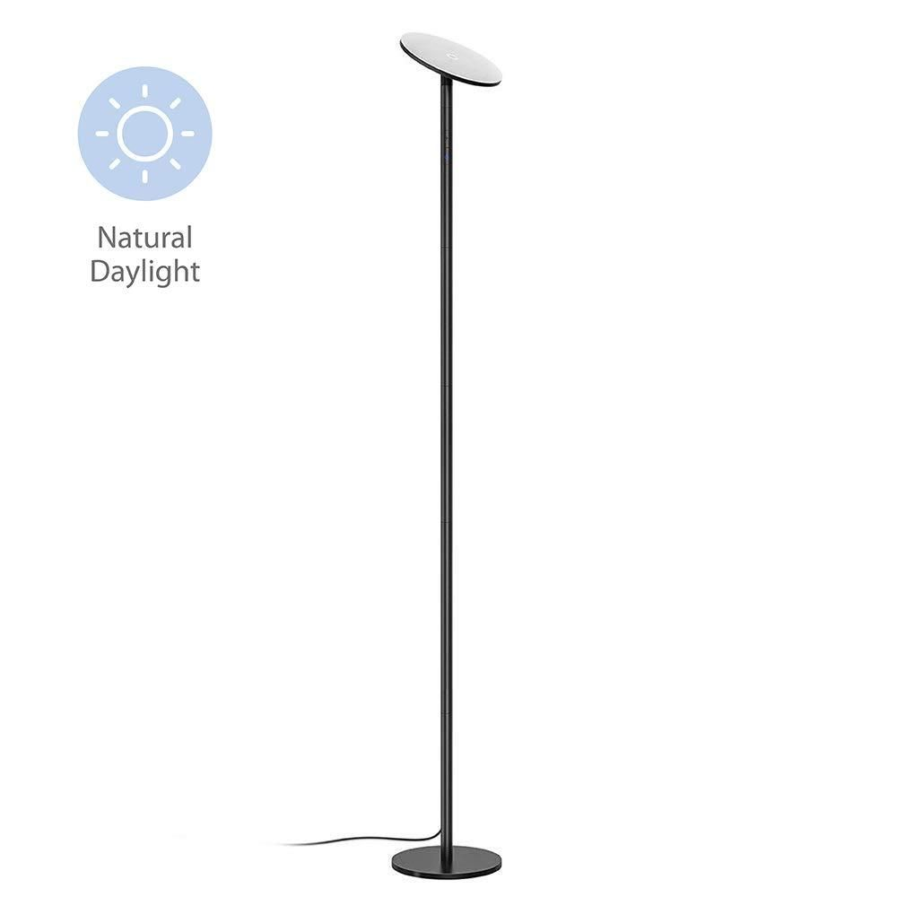 Trond Halo X Led Torchiere Floor Lamp Dimmable 30w 5500k Natural Daylight Not Warm Yellow Max 5000lm 71 Inch In 2021 Torchiere Floor Lamp Floor Lamp Wall Switch