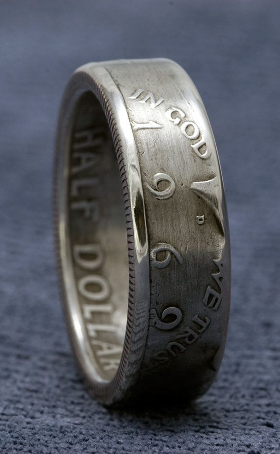Coin Ring 1968 Silver Half Coinring Jfk Kennedy Half Dollar Size 6