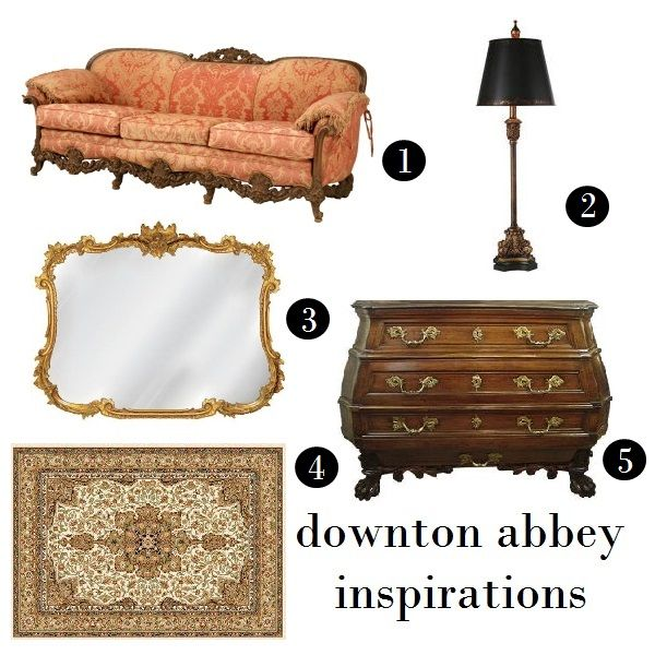 On Screen Styles Downton Abbey Home Decorating Homedecor