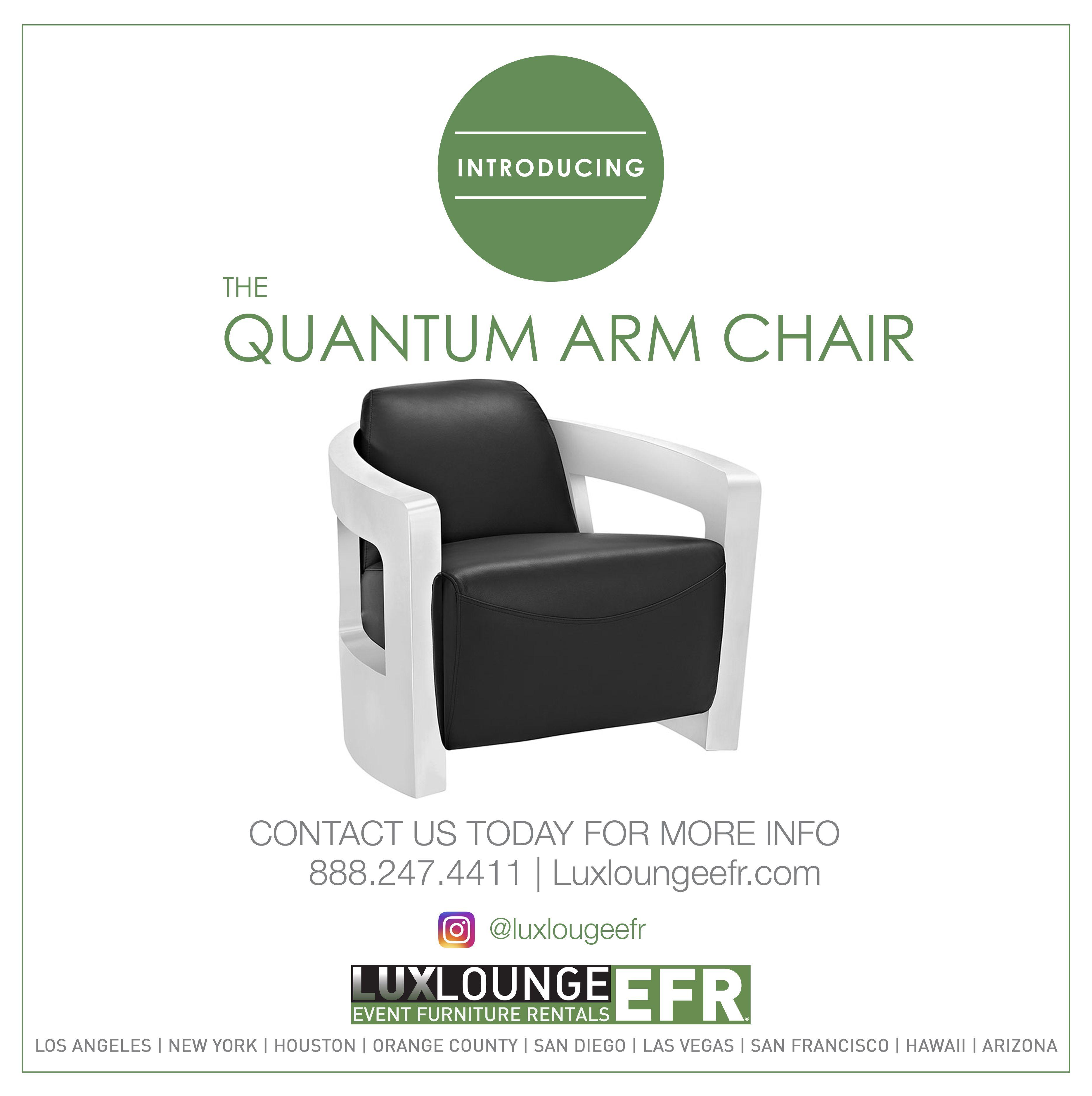QUANTUM ARM CHAIR FURNITURE DESIGN LUXURY RENTAL DECORATION