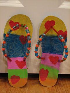 Flip flop craft for a summer bulletin board flip for Flip flops for crafts