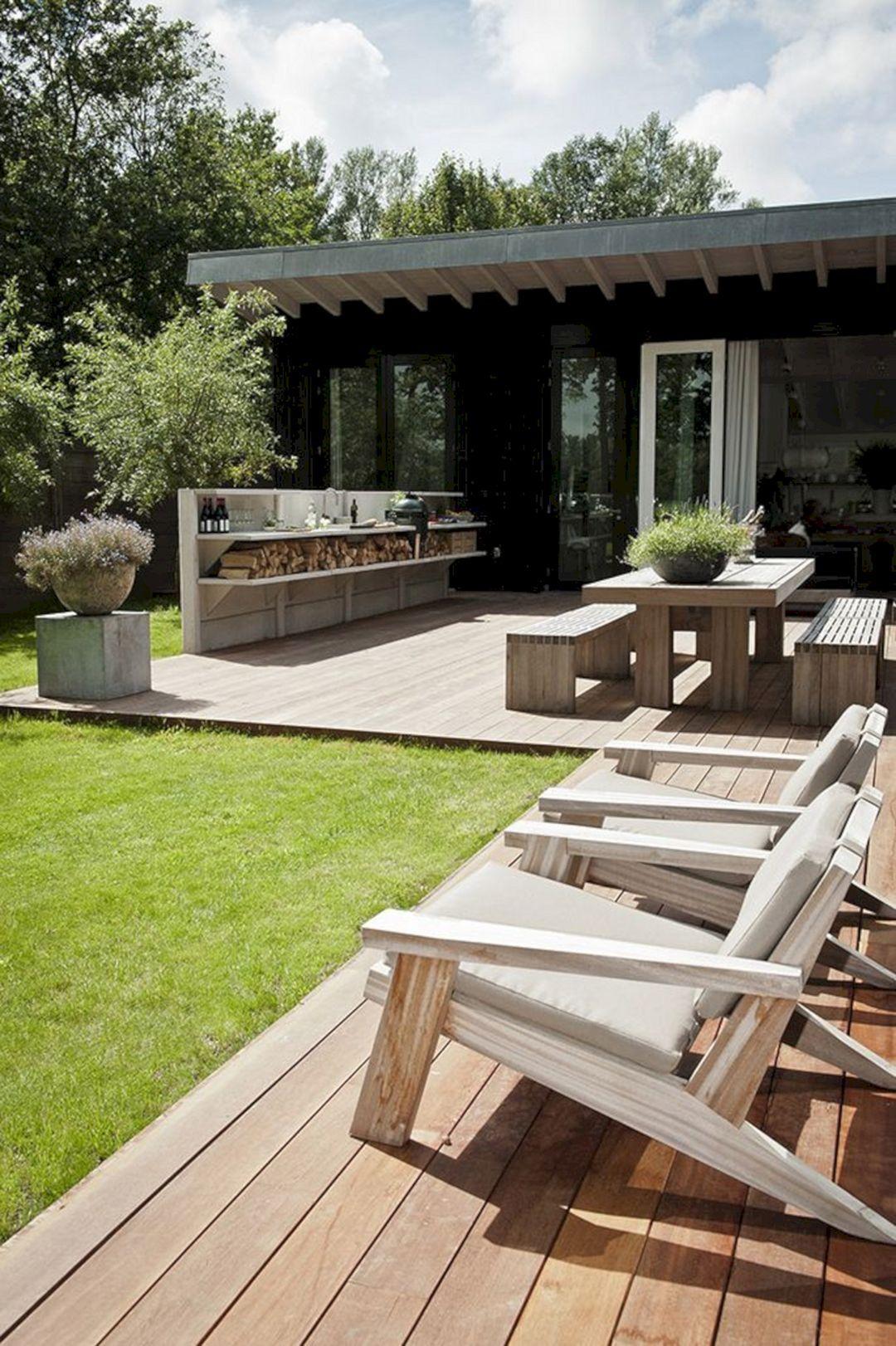 20 Incredible Backyard Patio Ideas With Modern Deck You Have To Know Decor Gardening Ideas Patio Garden Design Patio Design Small Patio Garden Modern garden ideas with bar