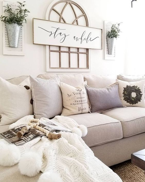 Home Decorating Ideas Farmhouse Gorgeous 60 Cozy Modern: Beautiful Cream Farmhouse Style