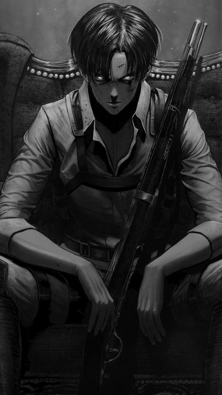 Anime Attack On Titan Levi Ackerman 720x1280 Mobile Wallpaper Attack On Titan Fanart Attack On Titan Anime Anime