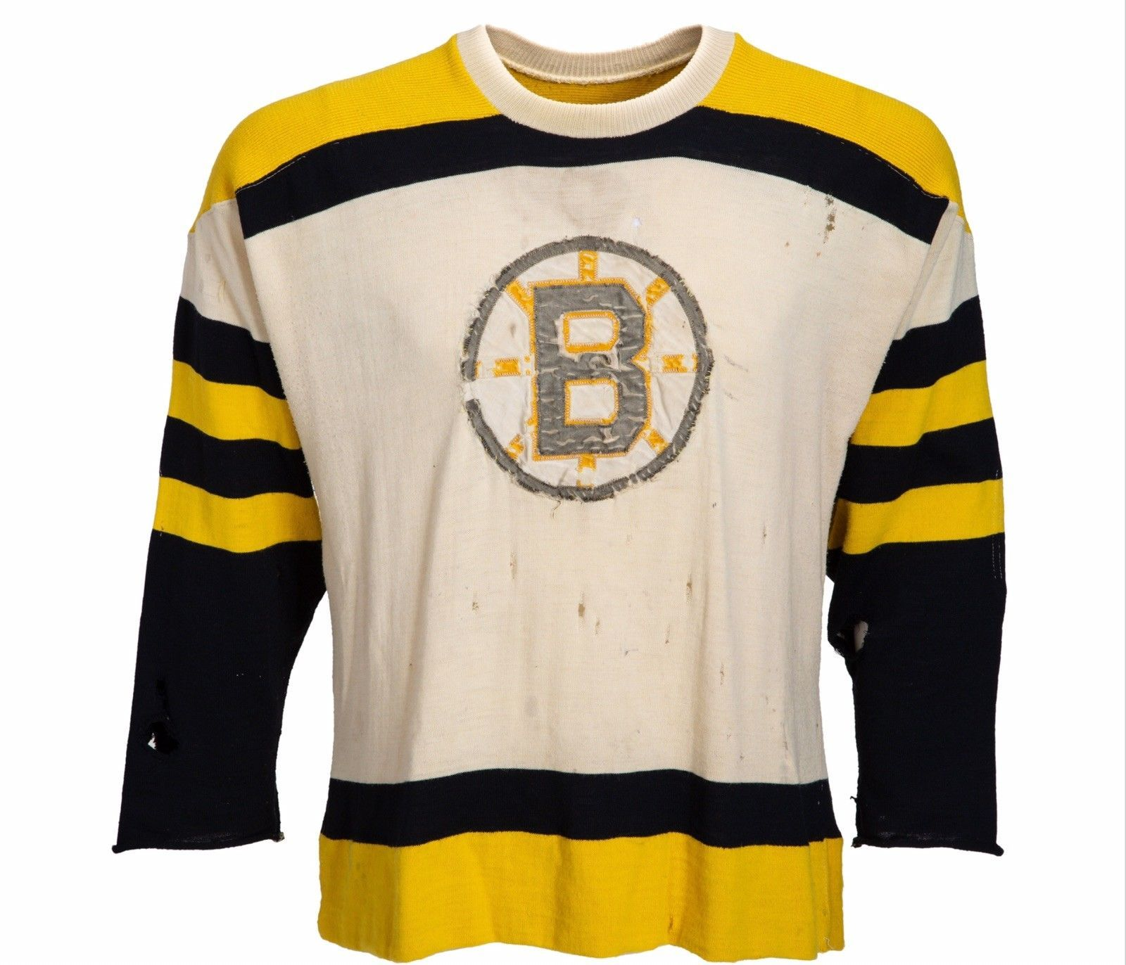 low priced 35bf3 74246 Details about 1955-57 Game Worn Boston Bruins Wool Sweater ...