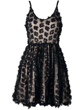 Shop Black Daisy Applique Sequin Embellished Cut Out Cami Dress from choies.com .Free shipping Worldwide.$48.99