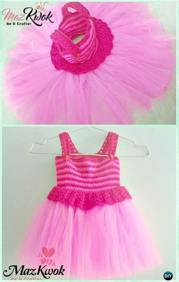 Crochet pinky v stitch tutu dress free pattern instructions crochet diy crochet tutu dress bodice free patterns crochet tutu bodice make it easy to crochet the upper part of dress and add tulle tutu skirts at bottom dt1010fo