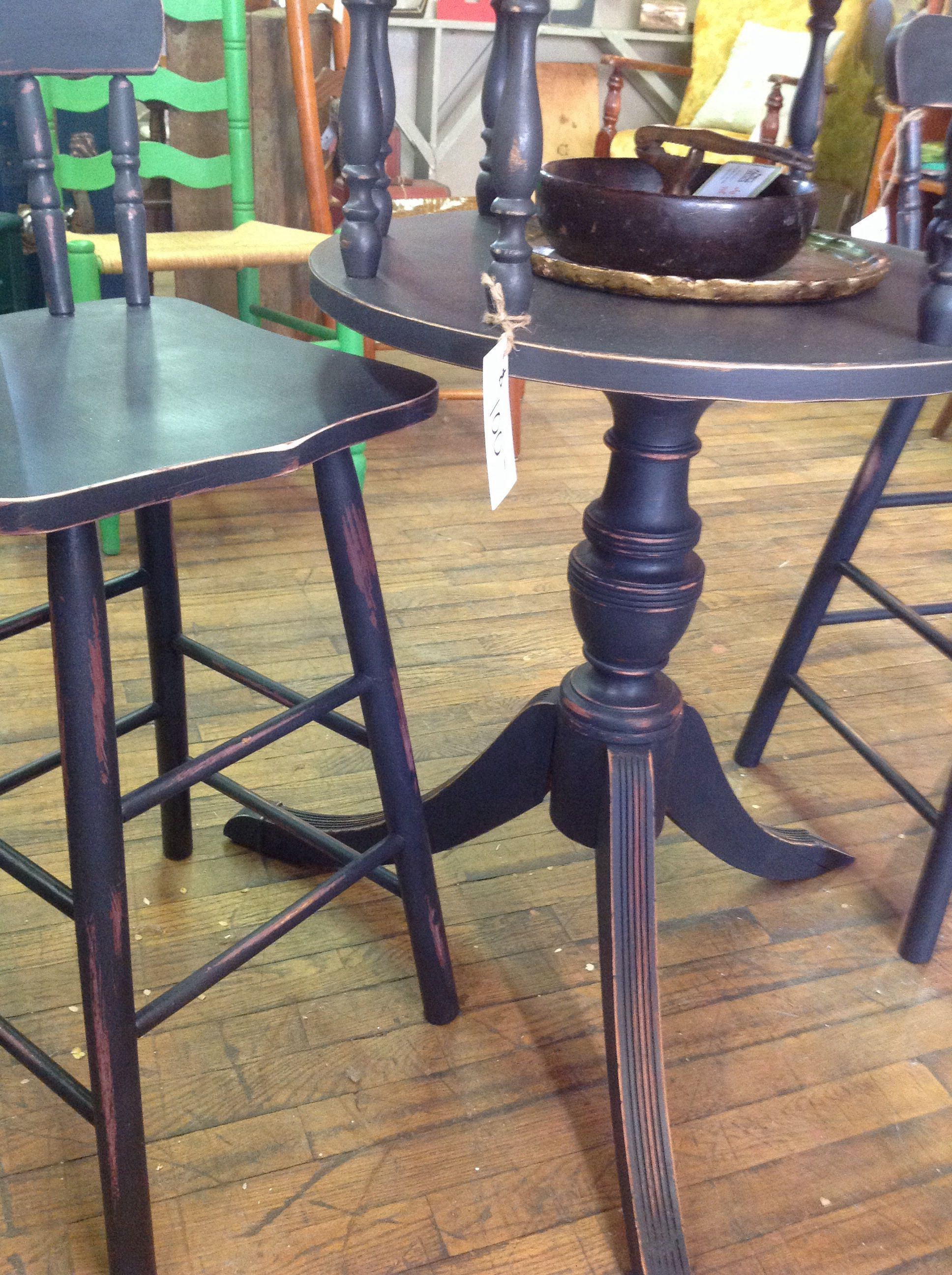 Bottom of bistro table distressed table bar table
