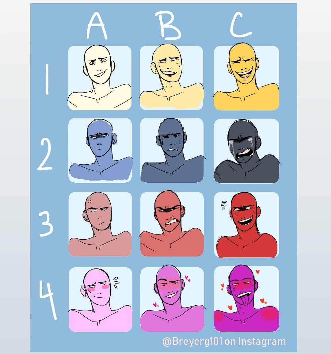Here S The Expression Chart I Made 3 Tag Me If You Use