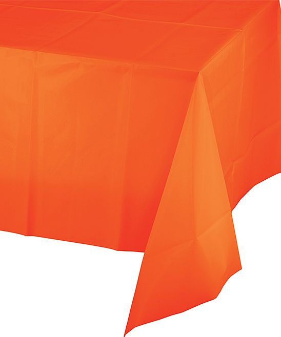 Superieur 108u0027u0027 Orange Table Cover   Set ...