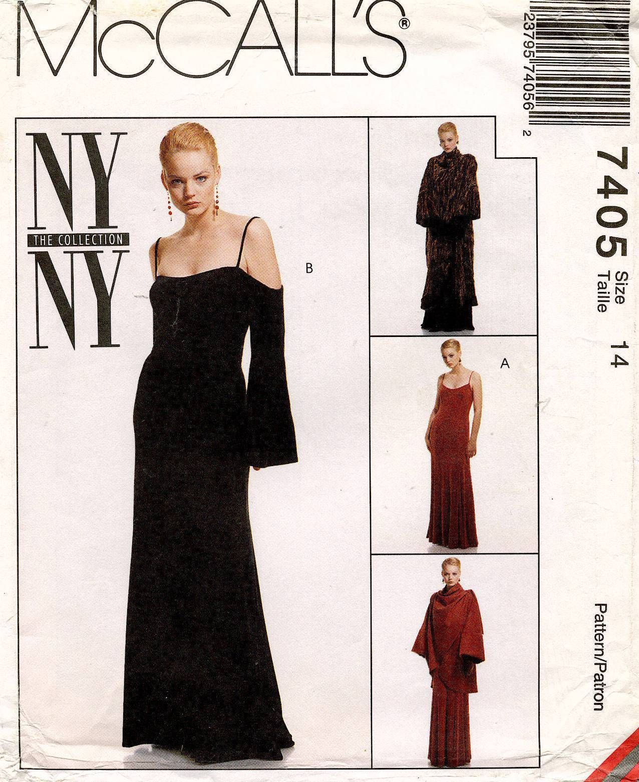 1990\'s VTG McCall\'s Misses\' Coat and Dress NY Collection Pattern ...