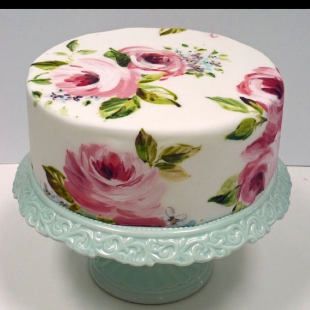 Painted-on cake. Perfect.