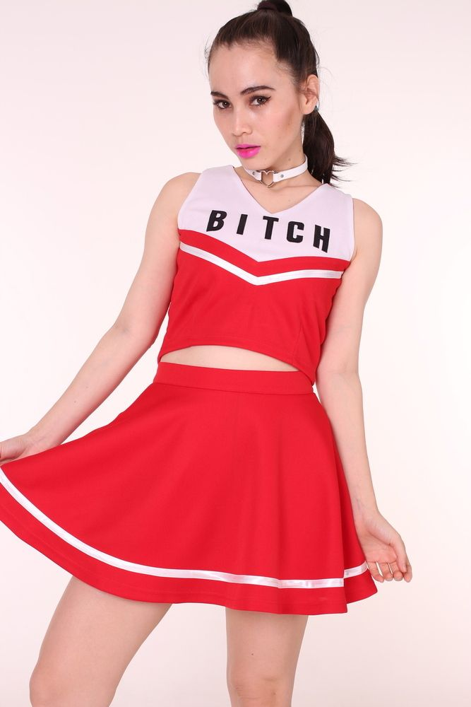1152c1f860 Image of MADE TO ORDER - Team Bitch Cheerleading Set | Fashion ...