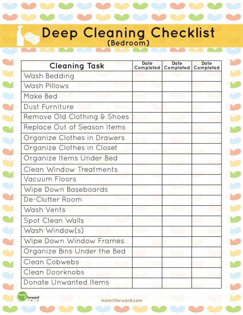 Deep Cleaning Bedroom Checklist