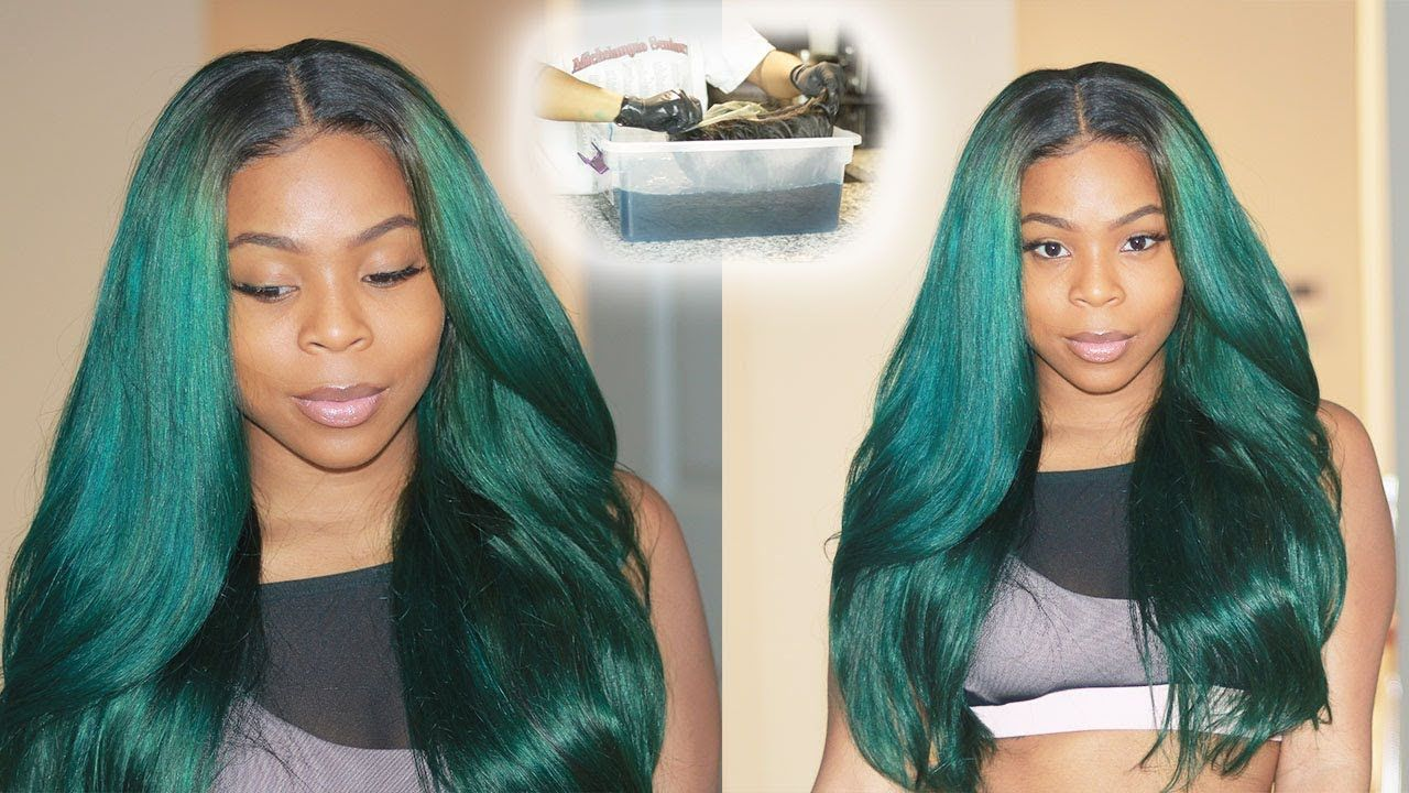 Trying Out Water Color Hair Dye Method On Black Hair Teal Hair