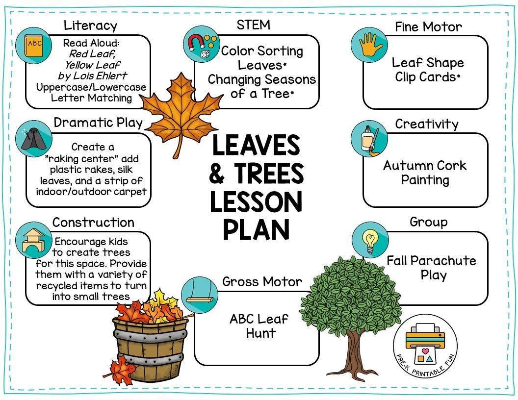 Free Preshool Leaves And Trees Lesson Plan Preschool Lesson Plans Lesson Plans For Toddlers Leaf Lesson Plans [ 816 x 1056 Pixel ]