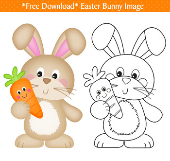 Free Easter Bunny Clip Art By Jo Kavanagh Designs Tpt In 2021 Easter Bunny Colouring Easter Bunny Cartoon Easter Bunny Printables