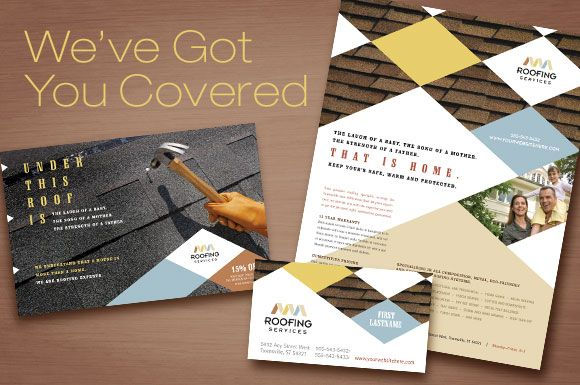 roofing contractor marketing materials