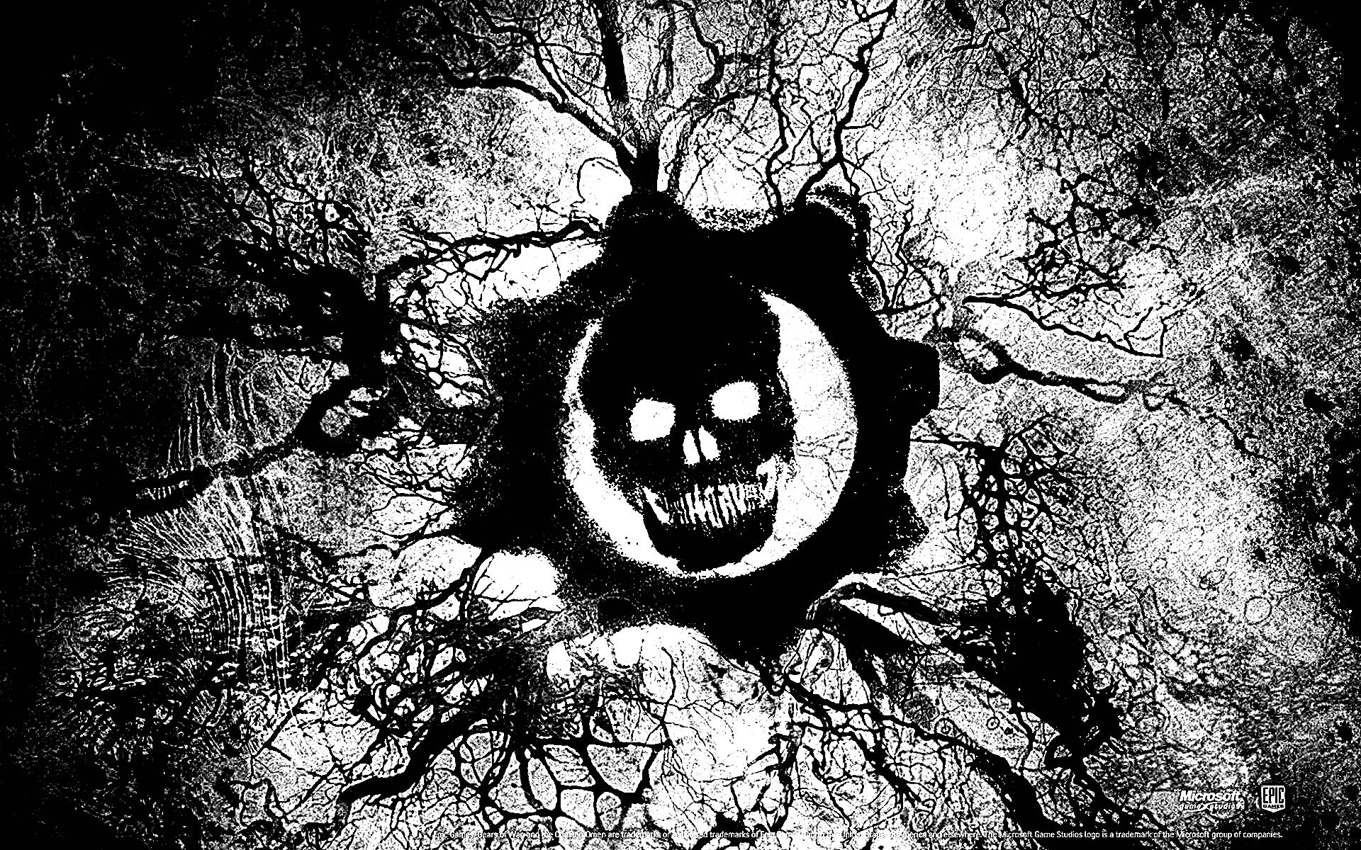 Download Gears Of War Logo Black White Img 2125915 And Hq Pictures