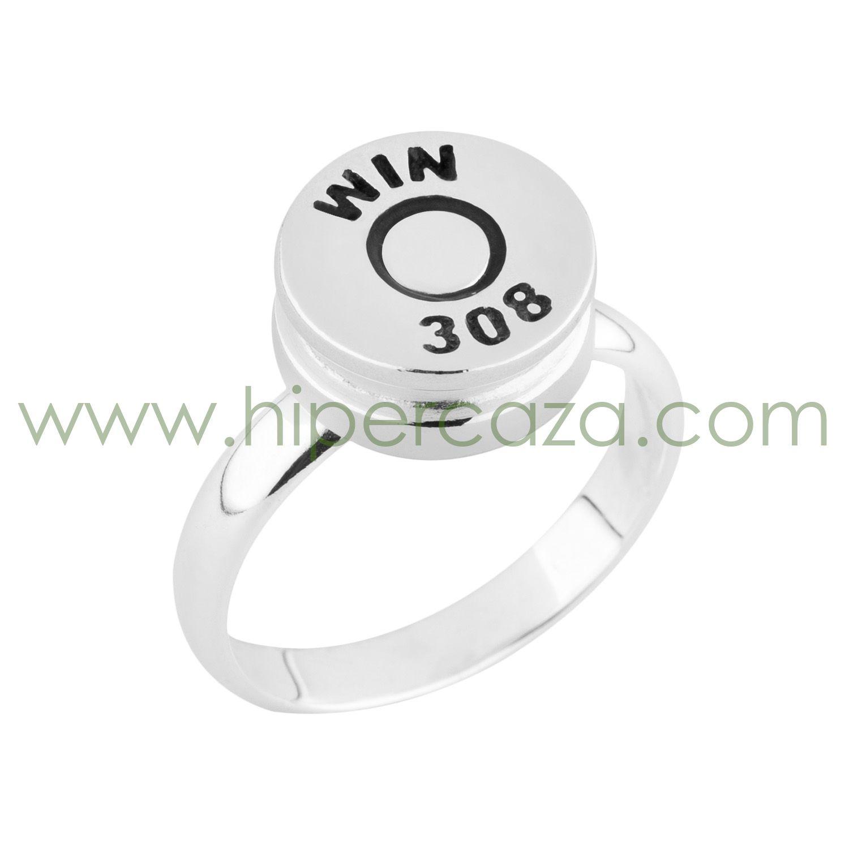 c45dfc305eb7 Estupendo anillo en Plata de Ley 925 mil. casquillo de bala. Excelente  terminación y