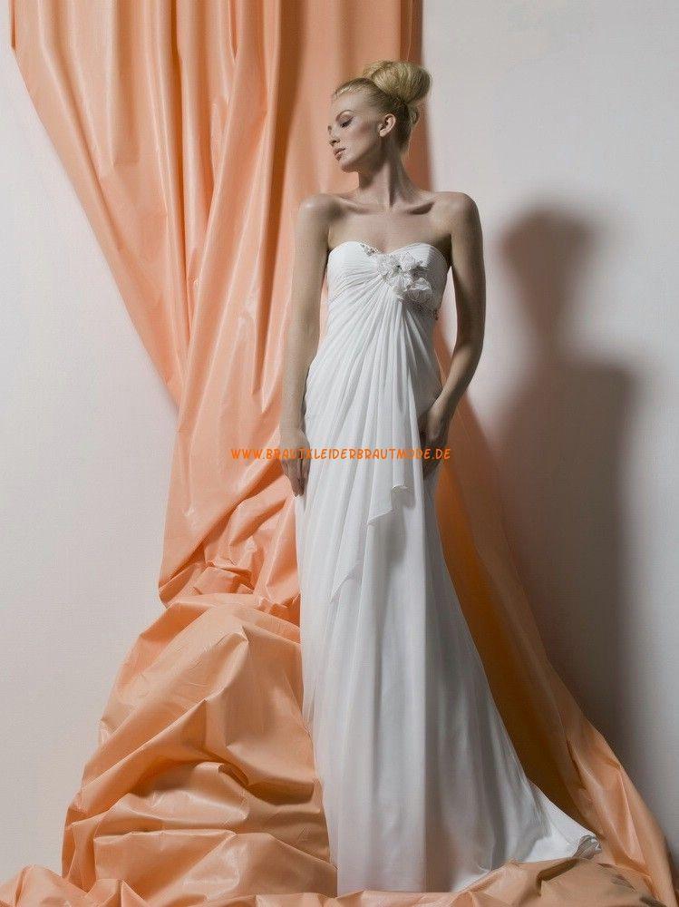 Liz Fields Kolumne Lange Schlichte Brautkleider aus Chiffon