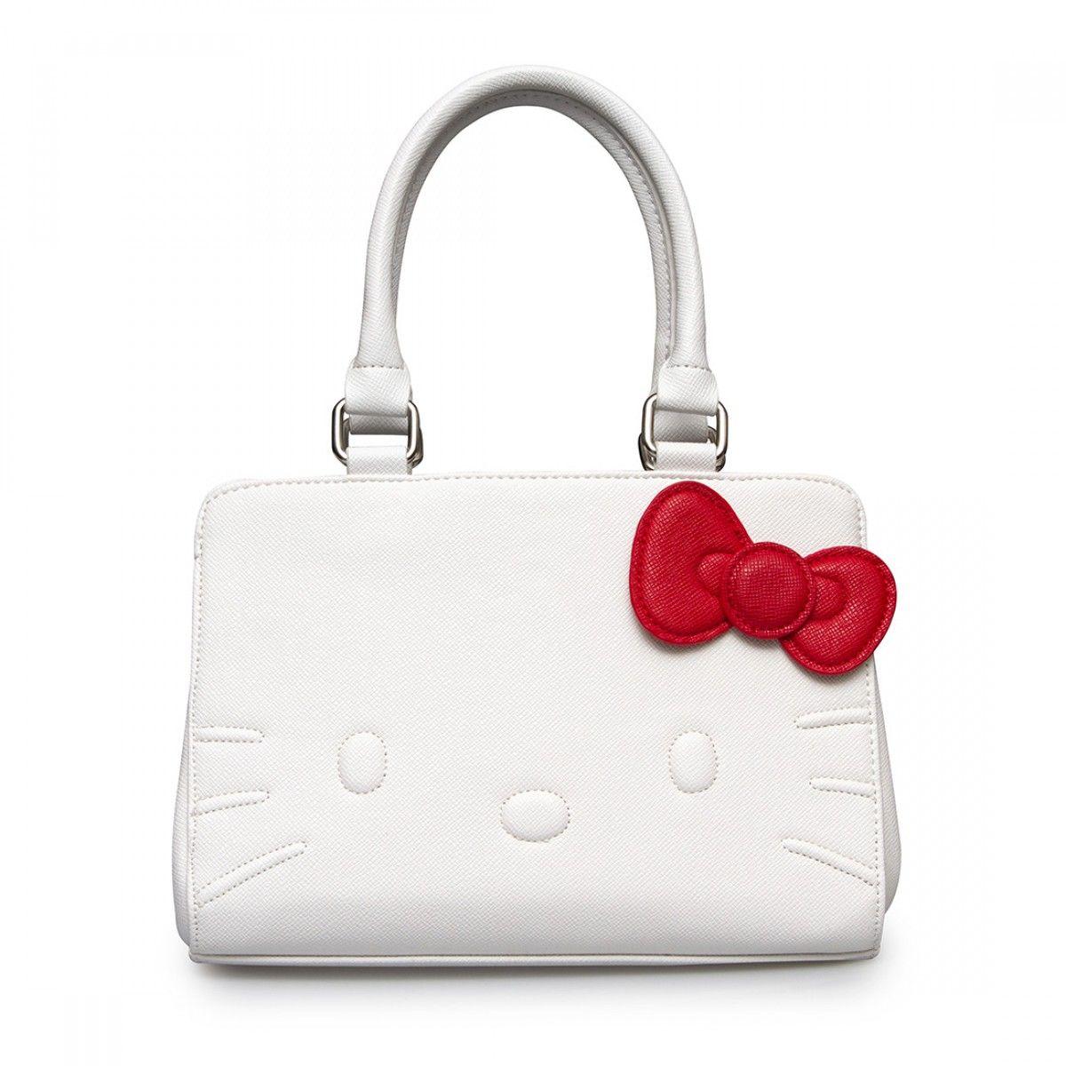 d90b099db1b9 Hello Kitty White Quilt Walking Stitch Face Bag - Bags - Hello Kitty -  Brands