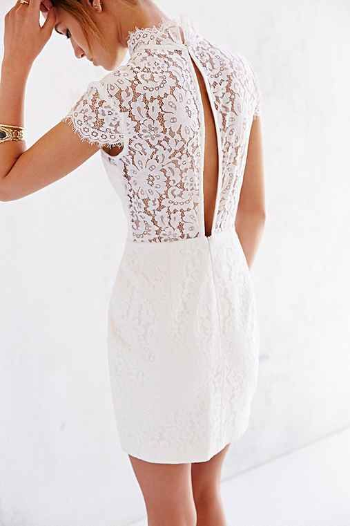 Keepsake Run The World Lace Top Shift Dress Lace White Dress Rehearsal Dinner Outfits Rehearsal Dinner Dresses
