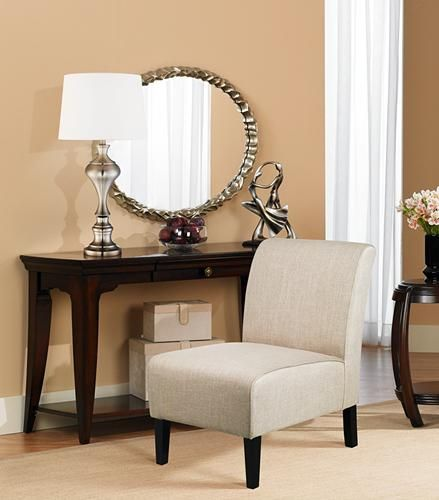 A tidy slipper chair is a transitional piece of furniture with timeless appeal. - Lighting & Decor by LampsPlus.com
