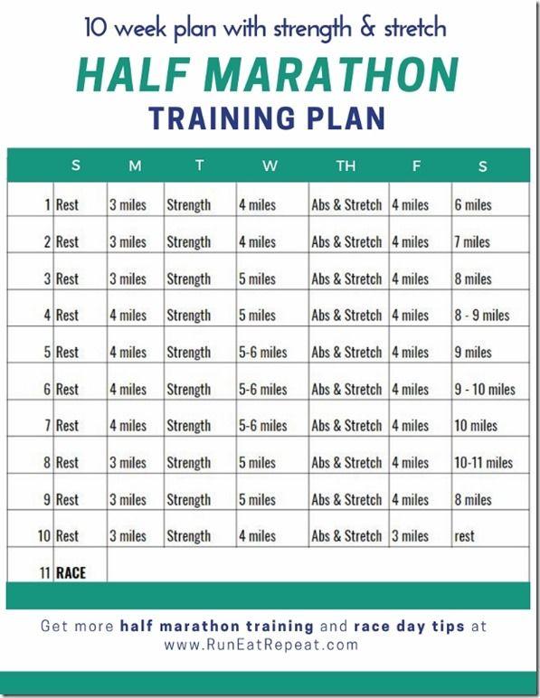 half marathon running diet plan