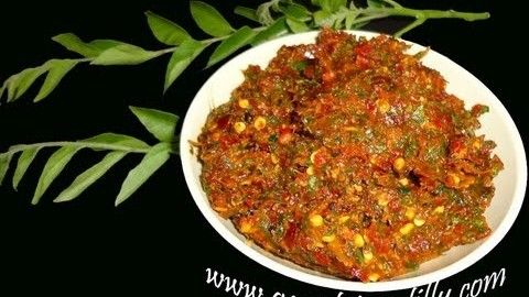Telugu recipe karivepaaku karam andhra curry leaves hot chutney telugu recipe karivepaaku karam andhra curry leaves hot chutney indian vegetarian food forumfinder