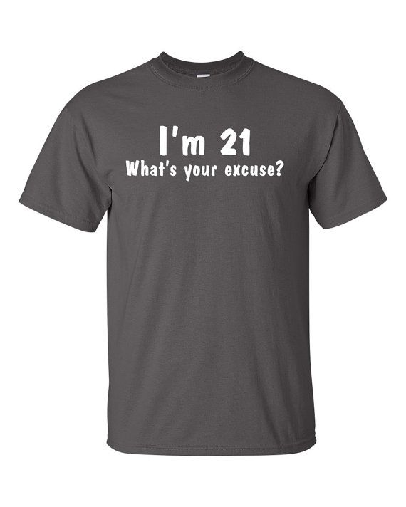21st Birthday Shirt 21 Years Old By ThePrintProjectStore