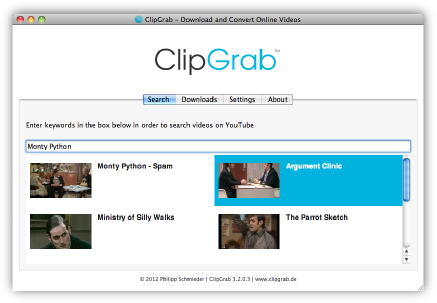ClipGrab is a free and easy to use downloader and converter