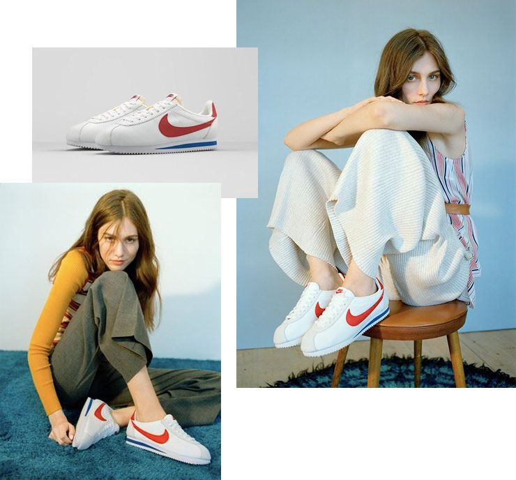 hot sales 4765a 4abac Nike Cortez White Red Blue | cloth in 2019 | Nike cortez ...