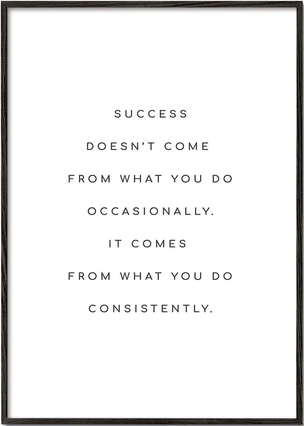 Success quote - Marco blanco / 70x100 / No
