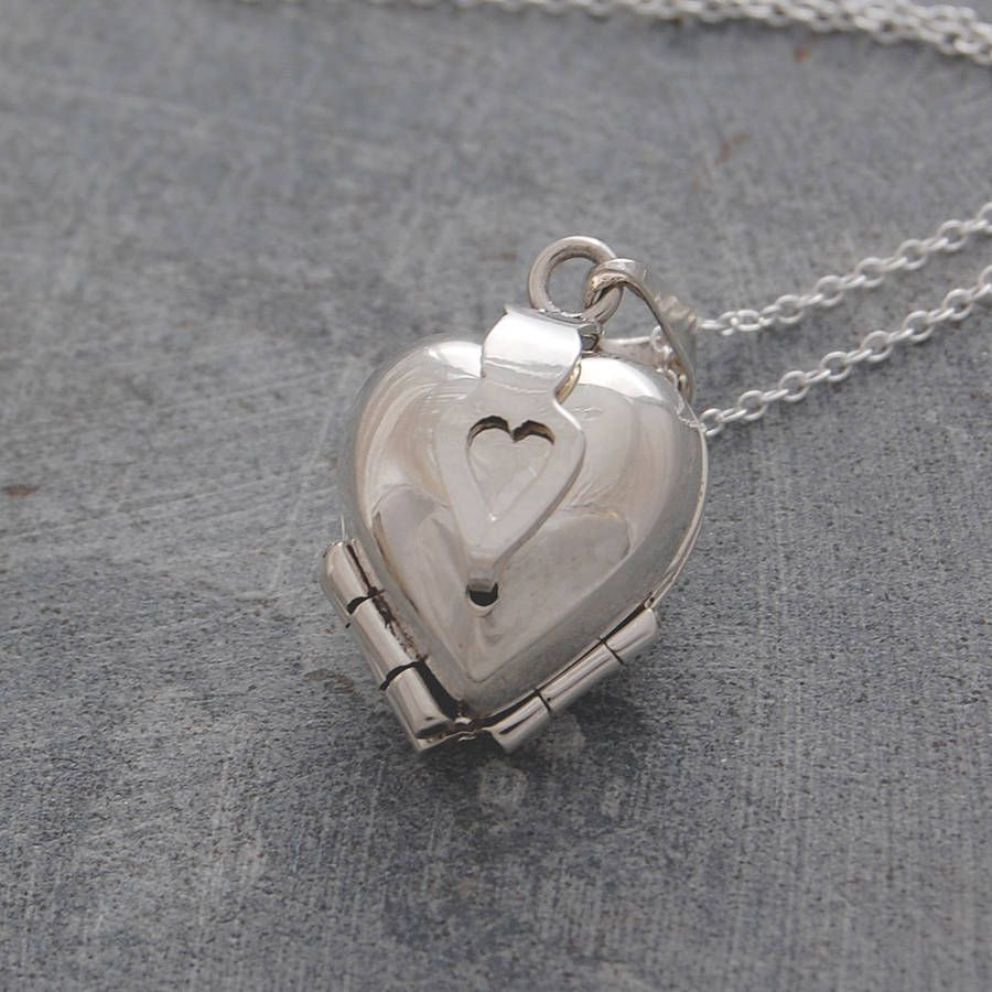 5cfc2415c0c551 heart clover motif silver locket pendant by otis jaxon    notonthehighstreet.com