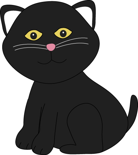 Cute Halloween Black Cat Clip Art Cute Halloween Black Cat Image