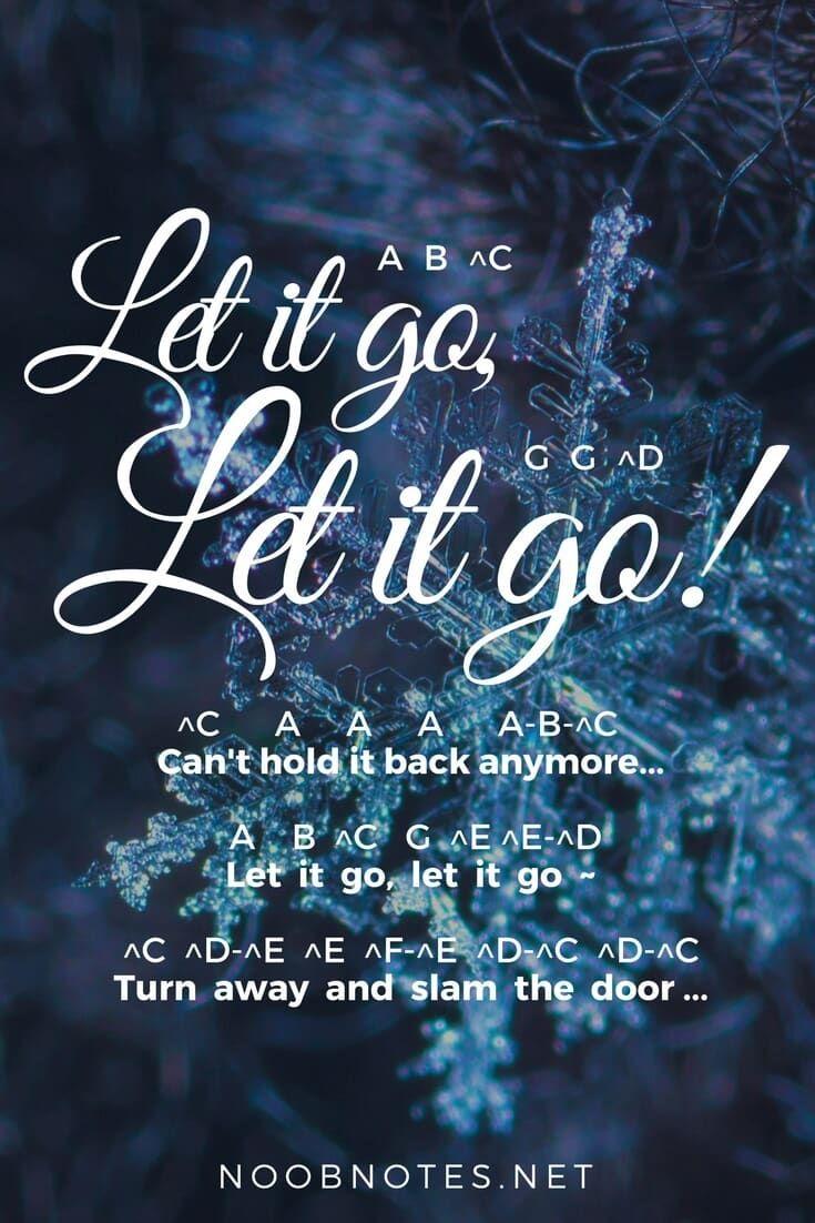 Let It Go Frozen Disney Piano Sheet Music Easy Piano Songs
