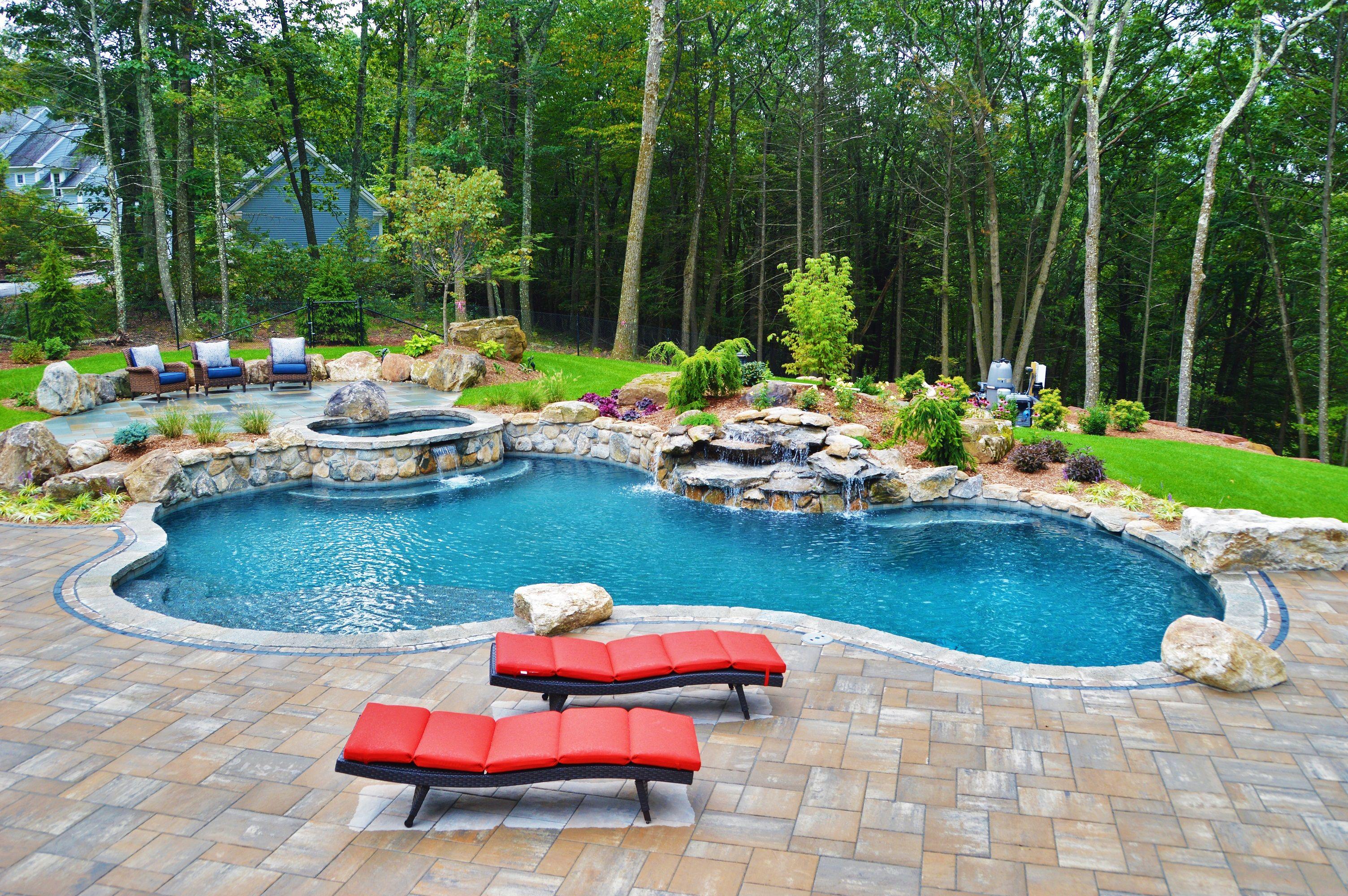 Inground Gunite Swimming Pool Builder Ct Swimming Pool
