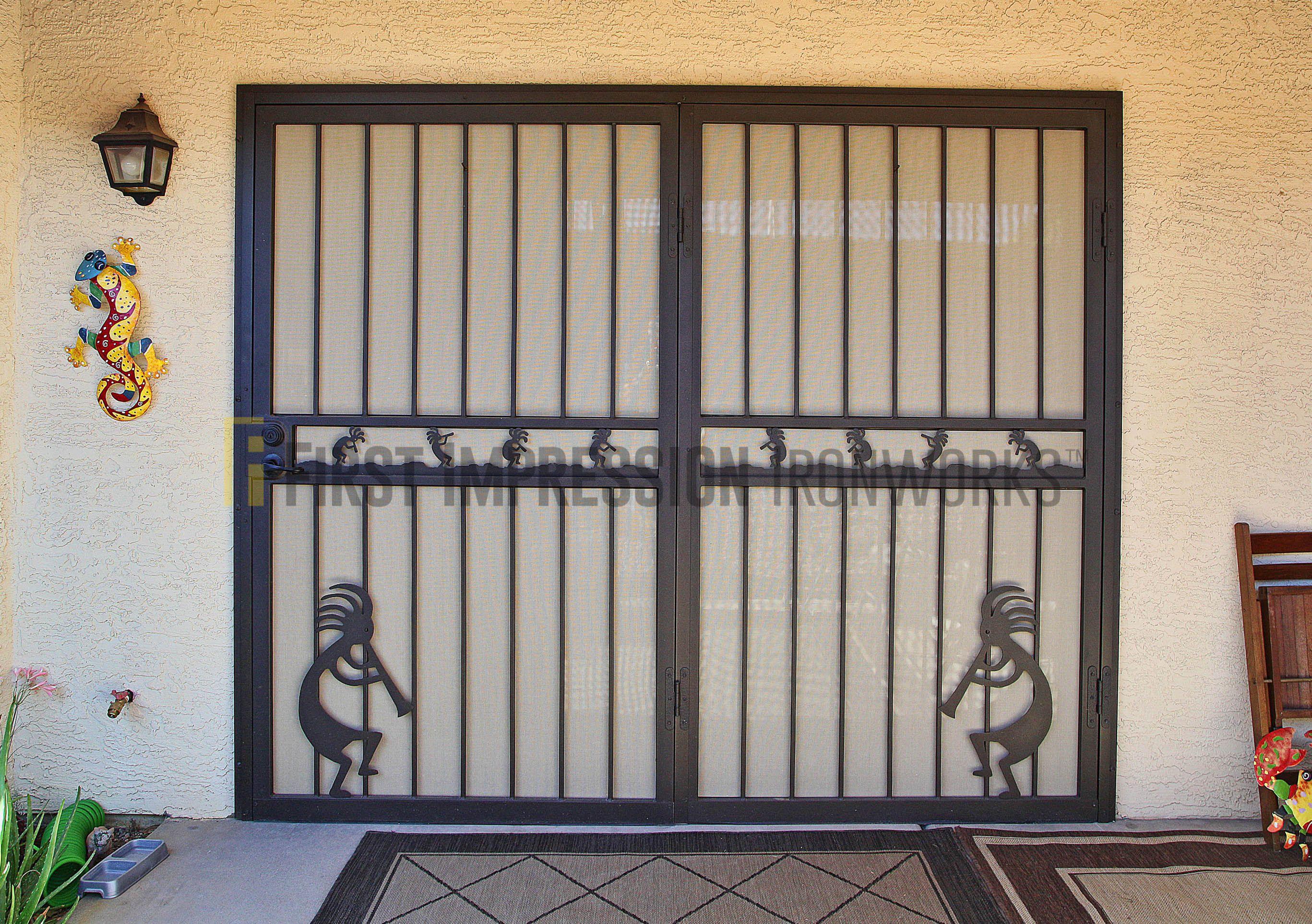 Security Doors Phoenix   Storm Doors   Metal Door   Iron Entry Door & First Impression Ironworks Southwestern Front Door #ornamentaliron ...