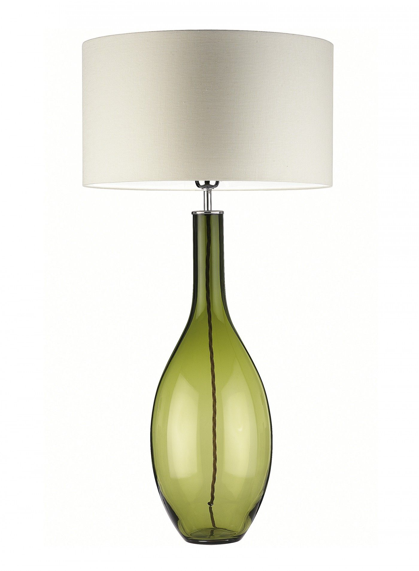 Lola Chartreuse Green Table Lamp Mould Blown In Melted