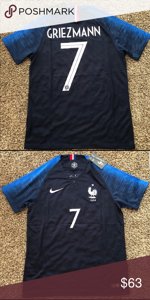 brand new 8c5fc fd6f0 2018 World Cup France Griezmann Jersey 2018 World Cup France ...