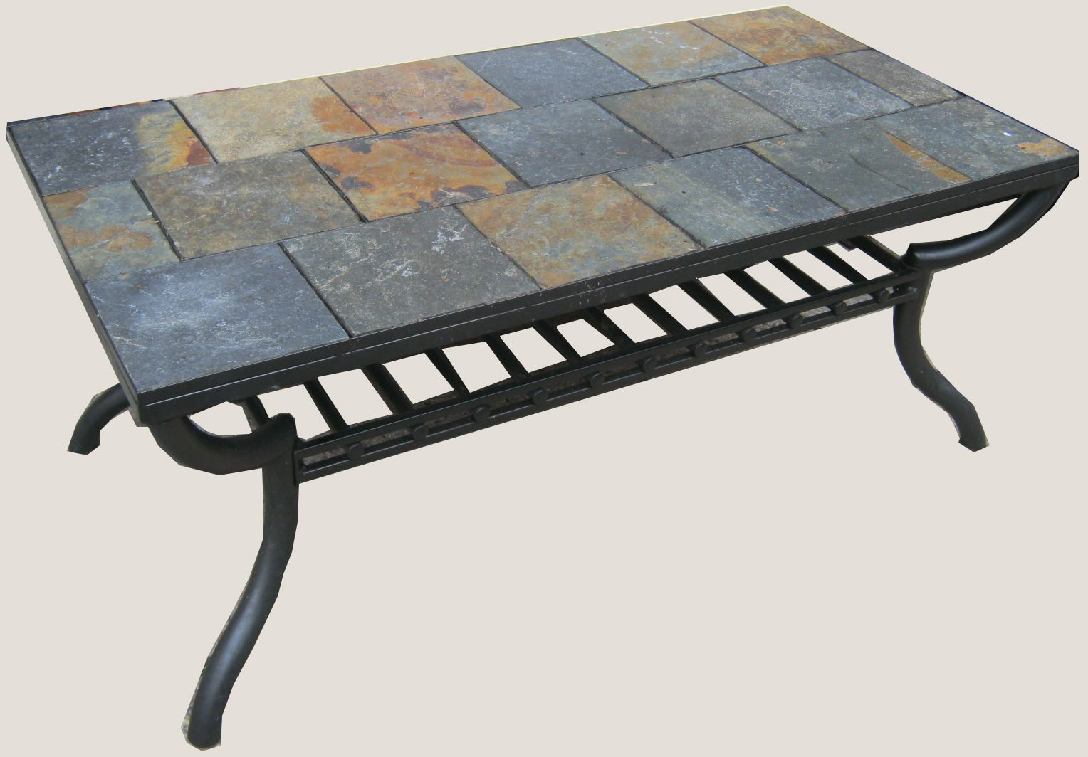 Uhuru Furniture Collectibles Slate Tile Coffee Table Sold