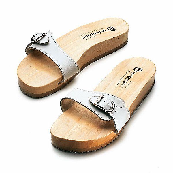 Berkemann Wooden Sandal, White