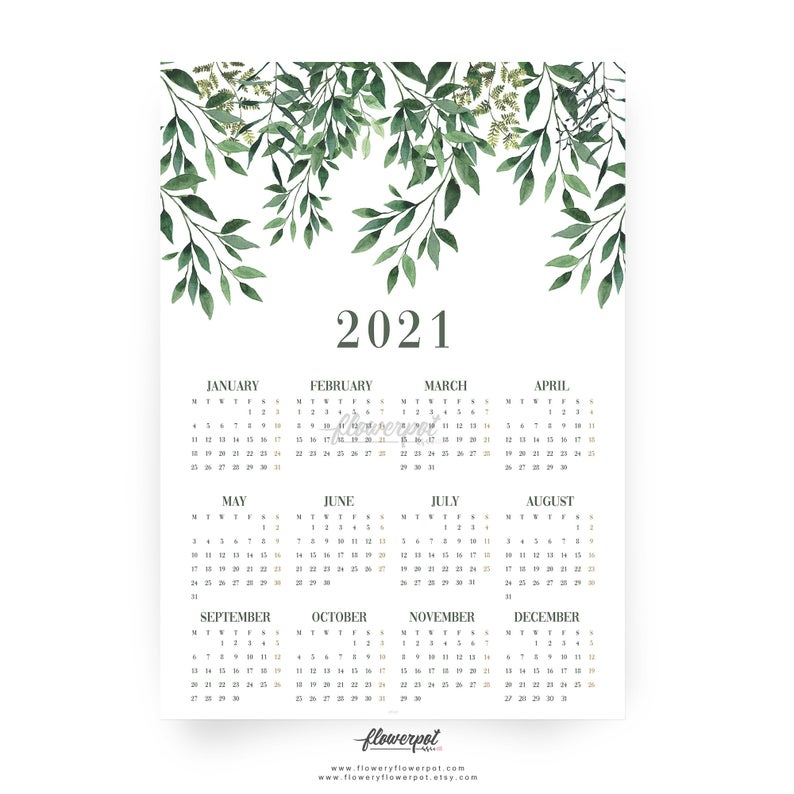 Free Printable Calendar 2021 Aesthetic | Free Letter Templates
