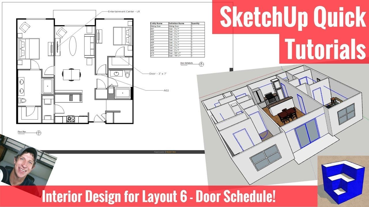 Creating A Door Schedule In Sketchup 2018 And Layout Interior Design Modeling For Layout The Sketchup Essentials Layout Interior Design Institute Design