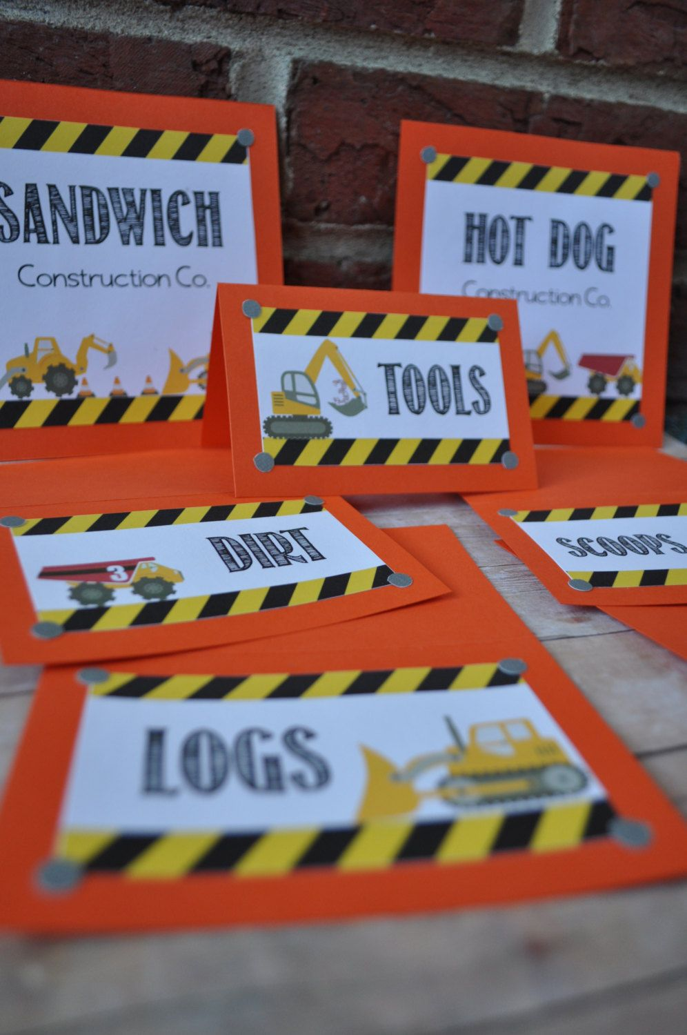 Construction Party Table Tents & Food Labels by JustDandyevents, $10.50