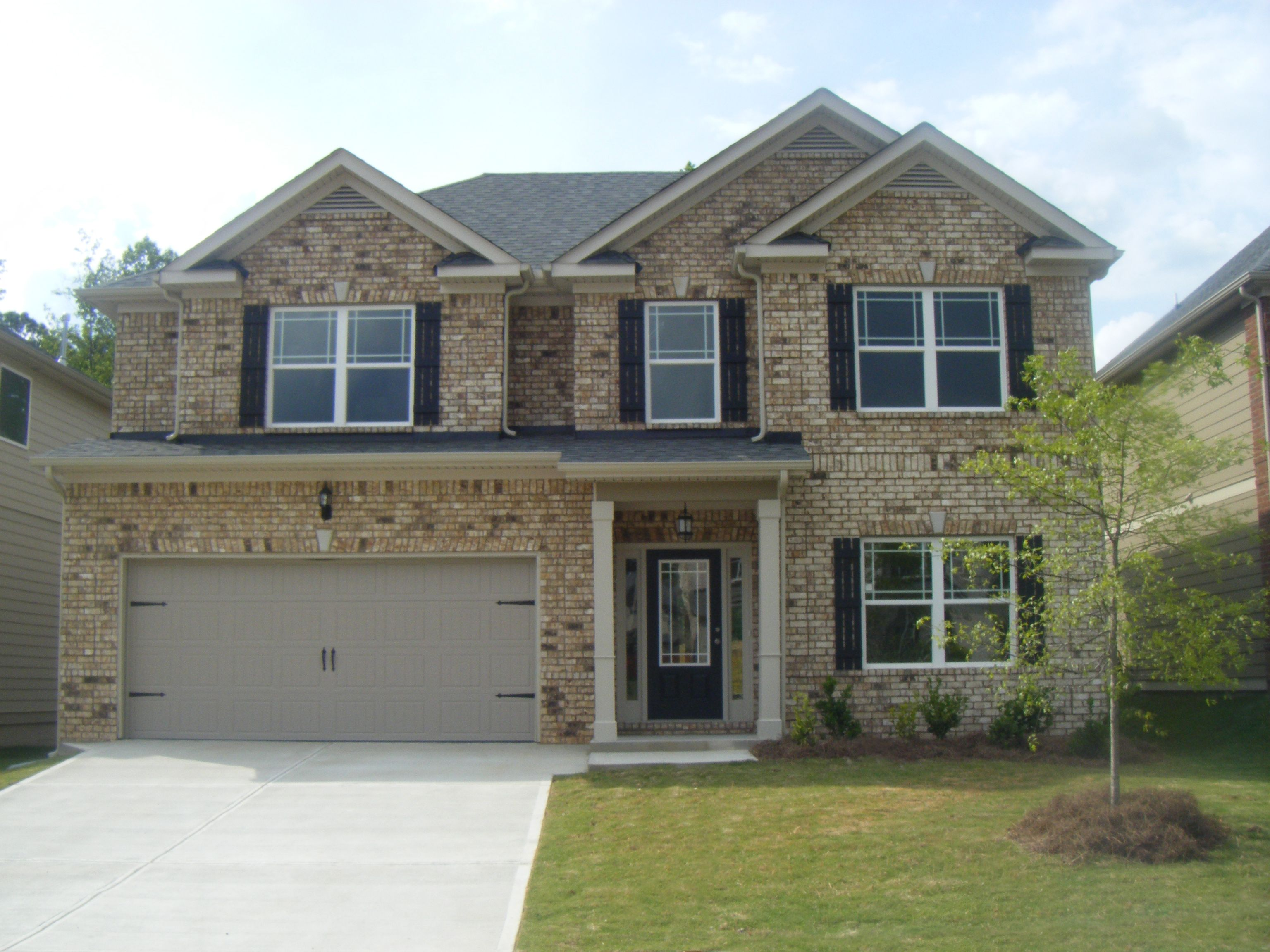 Exterior View Of The Harrison B Floor Plan. New Homes At Peachtree.