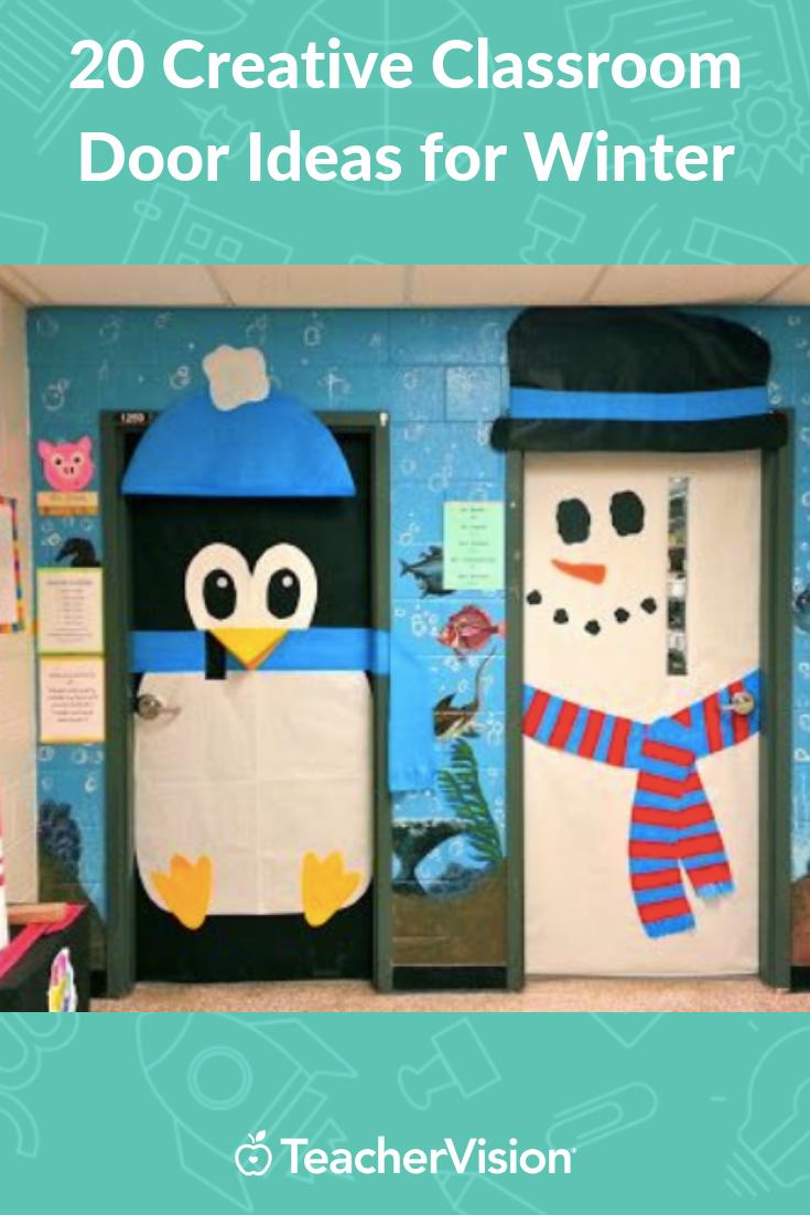 20 Creative Classroom Door Ideas For Winter School Door