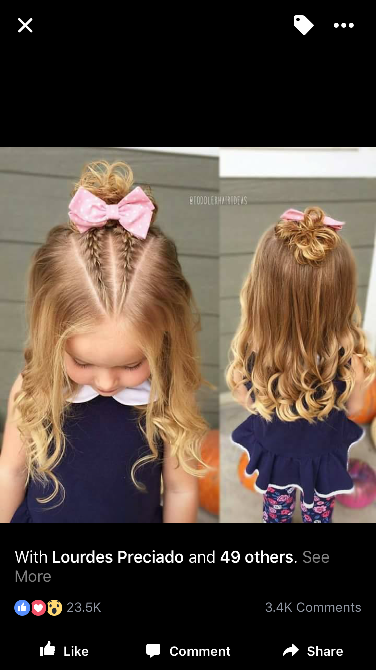 Pin By Emily Coe On Hair Childrens Hairstyles Baby Girl