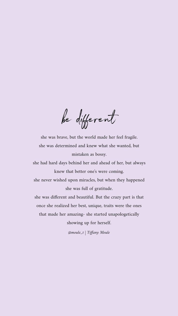 Be different, be YOU #selflove #worth #unique #quotesaboutselflove #quote   Self healing quotes, Hea